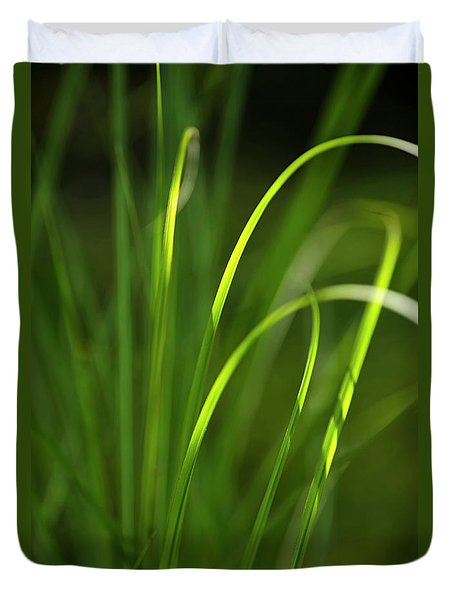 Sun-kissed Grass Duvet Cover by Christina Rollo