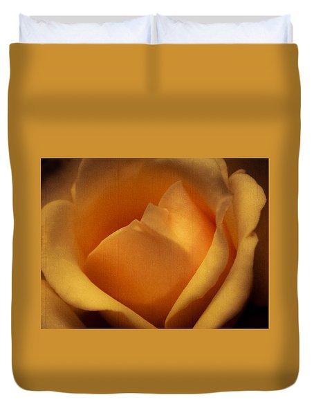 Sun-kissed Rose At Dusk Duvet Cover