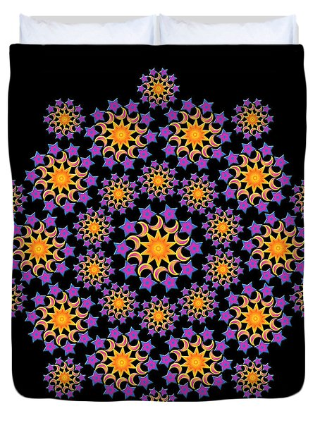 Sun Moon And Stars Duvet Cover