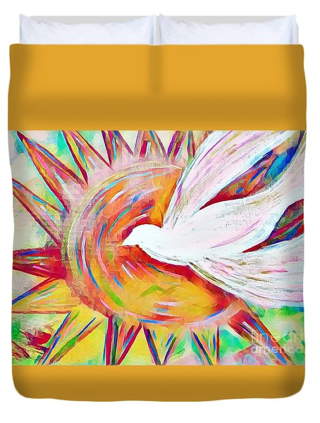Healing Wings Duvet Cover