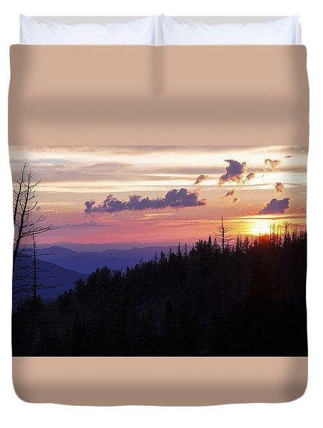 Sun Over Cedar Duvet Cover