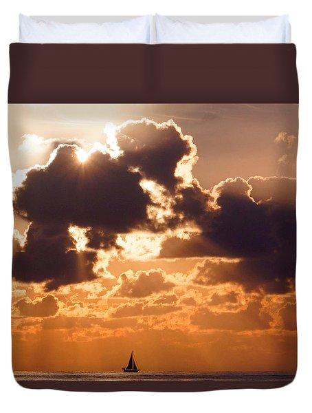 Sun Peek Sailboat Duvet Cover