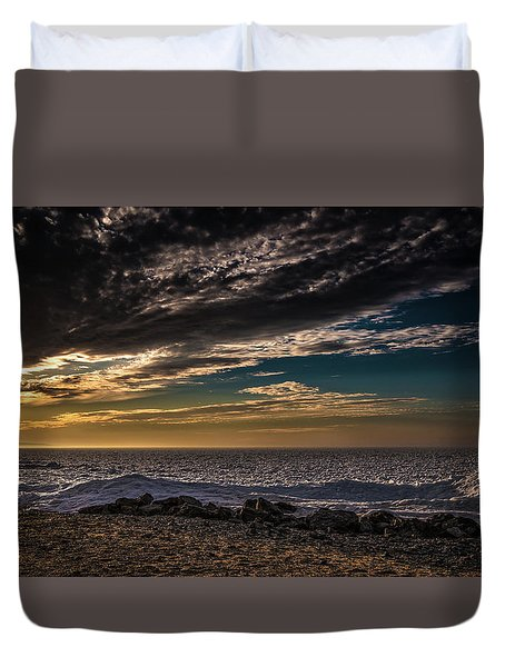 Duvet Cover featuring the photograph Sun Peeks Through by Onyonet  Photo Studios