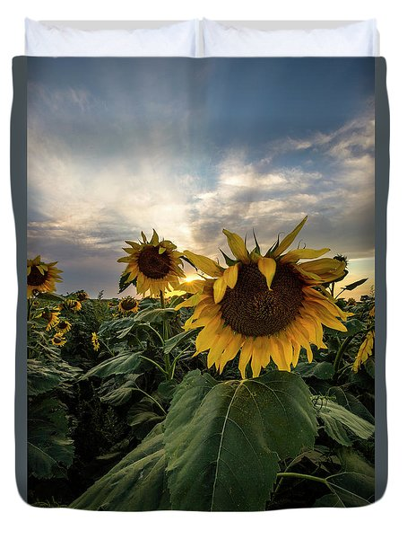 Duvet Cover featuring the photograph Sun Rays  by Aaron J Groen