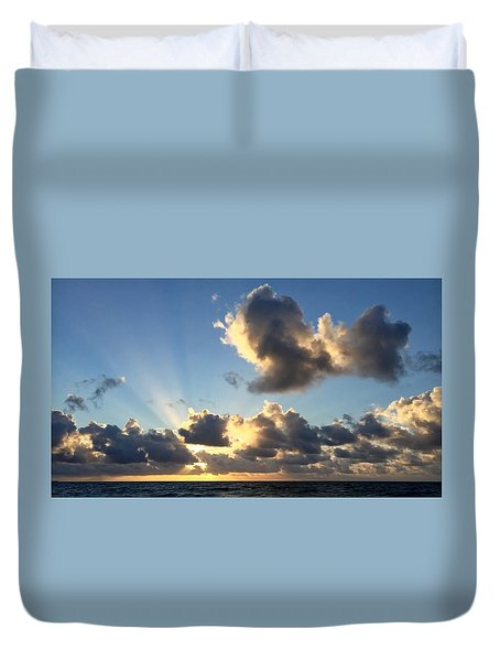 Sun Rays And The Cloud Duvet Cover