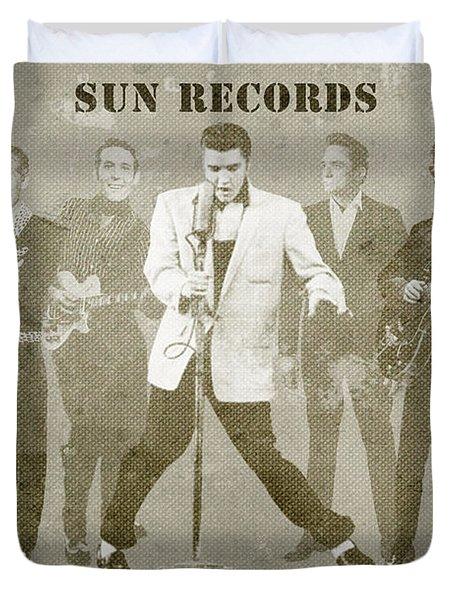 American Icons - Sun Records Duvet Cover