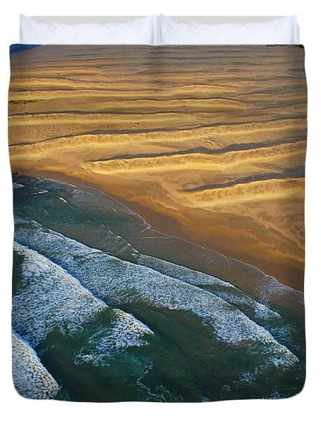 Duvet Cover featuring the photograph Sun Rise Coast  by Skip Hunt