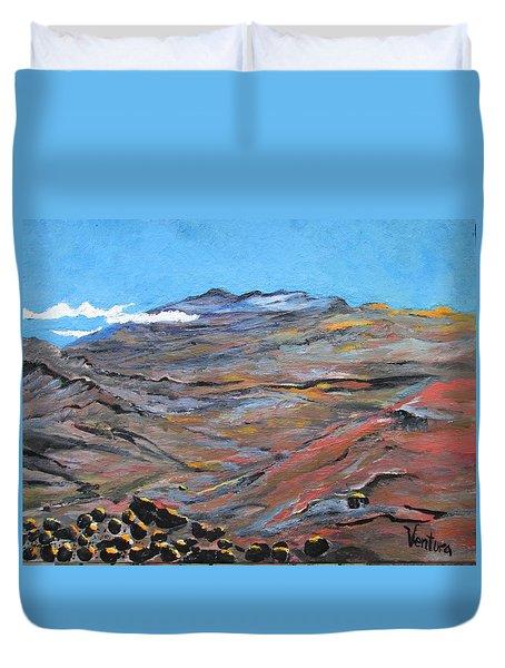 Sun Salutation At Haleakala Duvet Cover