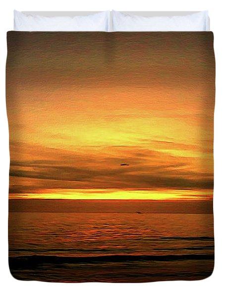 Sun Set On The Gulf Duvet Cover