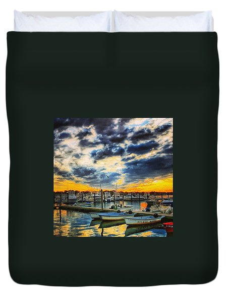 Reflections On The Marina Duvet Cover