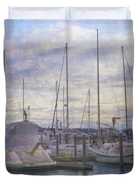 Sun Setting Sun In Newport  Duvet Cover by Betty  Pauwels