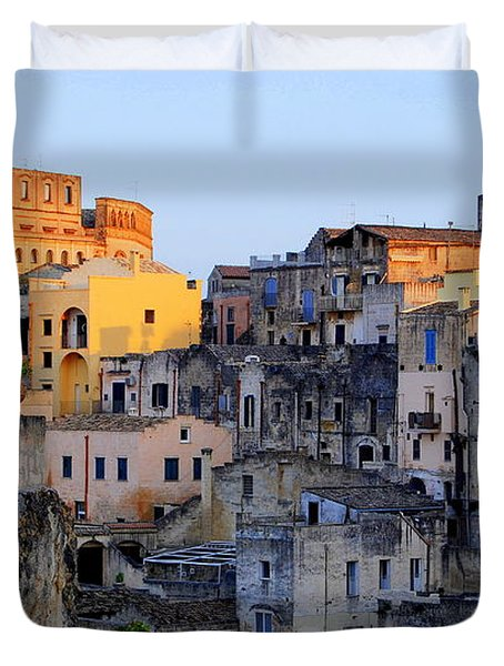 Sun Setting Over Sassi Duvet Cover