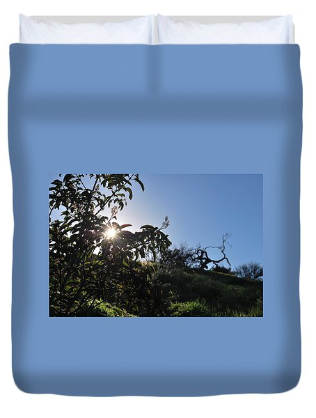 Duvet Cover featuring the photograph Sun Shines Through The Greenery by Matt Harang