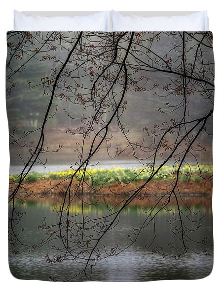 Duvet Cover featuring the photograph Sun Shower by Bill Wakeley