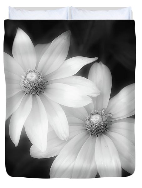 Sun Sisters In Black And White Duvet Cover