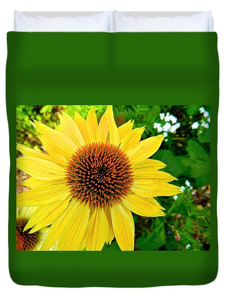 Sun Soaked Echinacea Duvet Cover