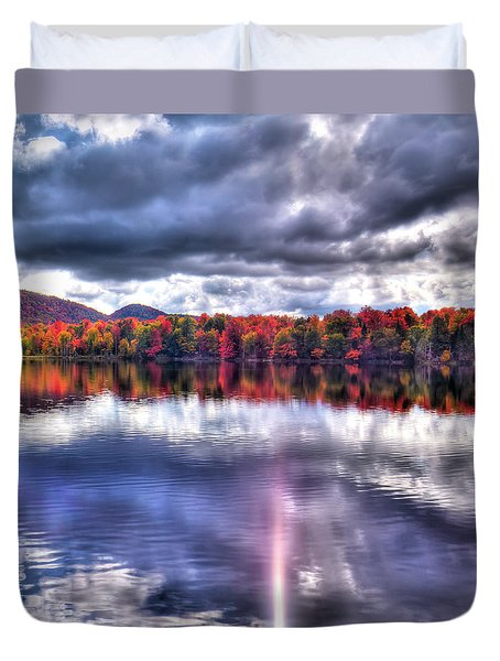 Duvet Cover featuring the photograph Sun Streaks On West Lake by David Patterson