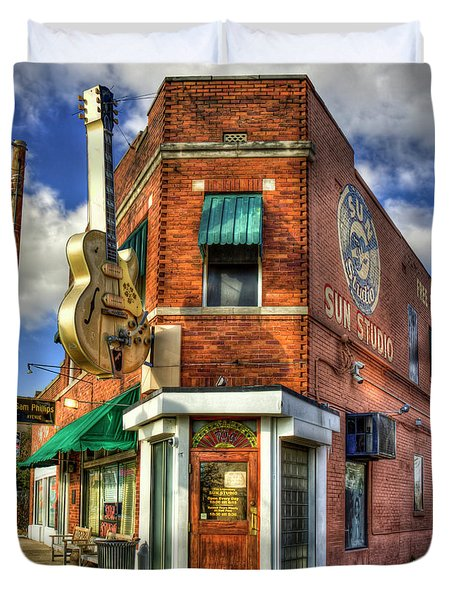 Sun Studio Rock N Roll Birthing Place Memphis Tennessee Art Duvet Cover