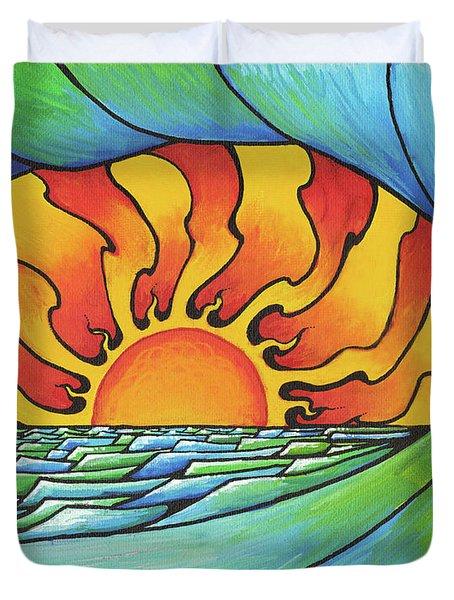 Sun Through The Curl Duvet Cover