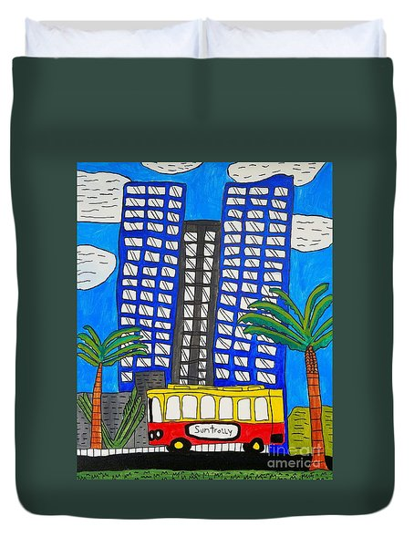 Sun Trolley Duvet Cover