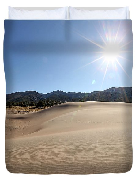 Sun Up At Great Dunes National Park Duvet Cover