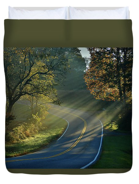 Sun-up On Conners Grove Duvet Cover