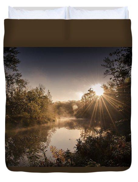 Sunbeams  Duvet Cover by Annette Berglund