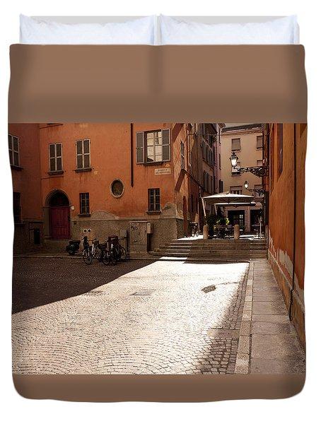 Sunbeams On A Quiet Street Duvet Cover by Rae Tucker