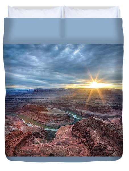 Sunburst At Dead Horse Point Duvet Cover
