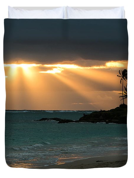Sunburst At Kailua Duvet Cover