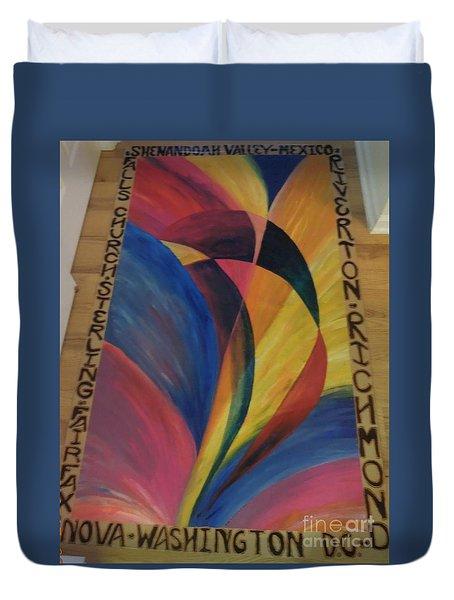 Sunburst Floorcloth Duvet Cover