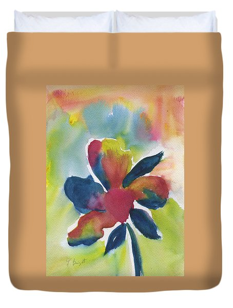 Duvet Cover featuring the painting Sunburst by Frank Bright