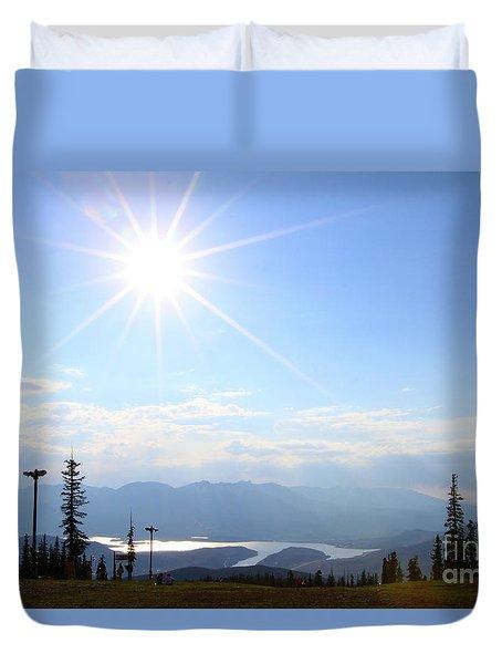 Sunburst Over Lake Dillon Duvet Cover