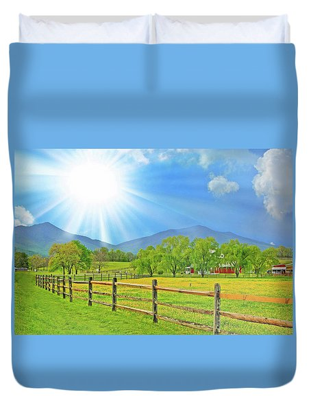 Sunburst Over Peaks Of Otter, Virginia Duvet Cover