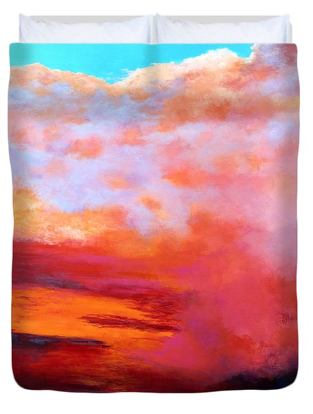 Duvet Cover featuring the painting Sundance 2 by M Diane Bonaparte