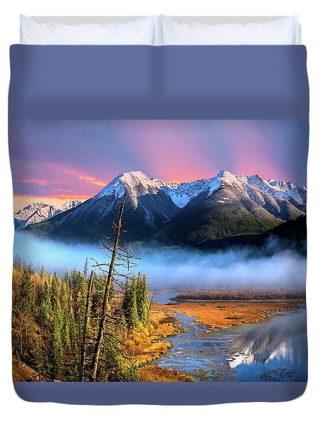 Duvet Cover featuring the photograph Sundance by John Poon