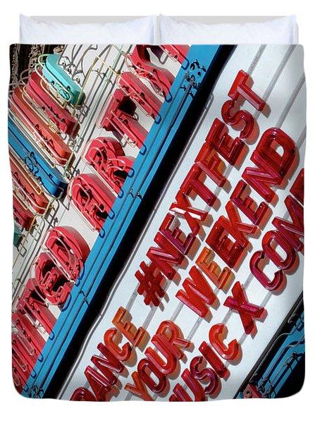 Sundance Next Fest Theatre Sign 2 Duvet Cover