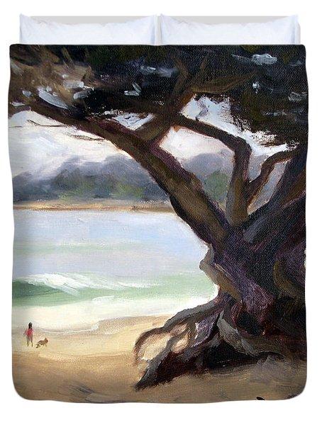 Sunday Afternoon Carmel Beach Duvet Cover