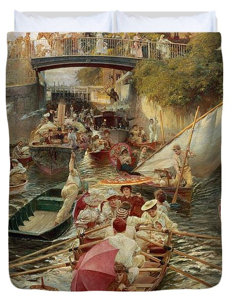 Sunday Afternoon Duvet Cover by Edward John Gregory