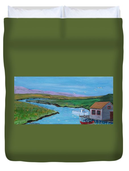Sunday Afternoon On The California Delta Duvet Cover by Mike Caitham