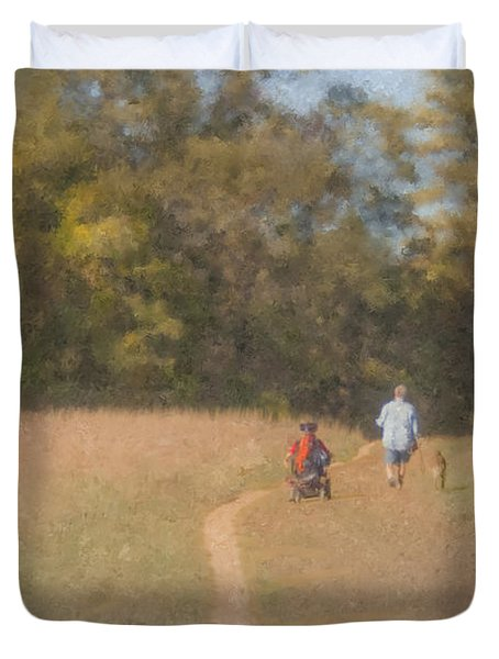 Sunday Afternoon Walk Duvet Cover