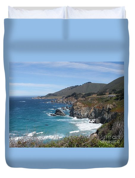 Sunday Drive - California Coast Duvet Cover