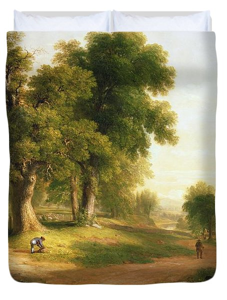 Sunday Morning Duvet Cover by Asher Brown Durand
