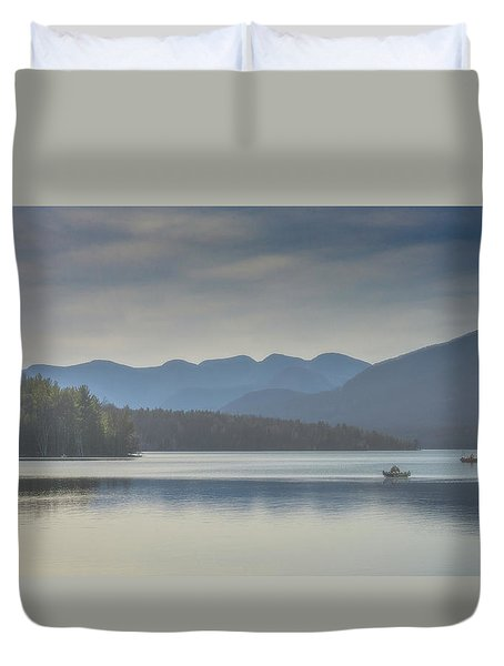 Duvet Cover featuring the photograph Sunday Morning Fishing by Chris Lord