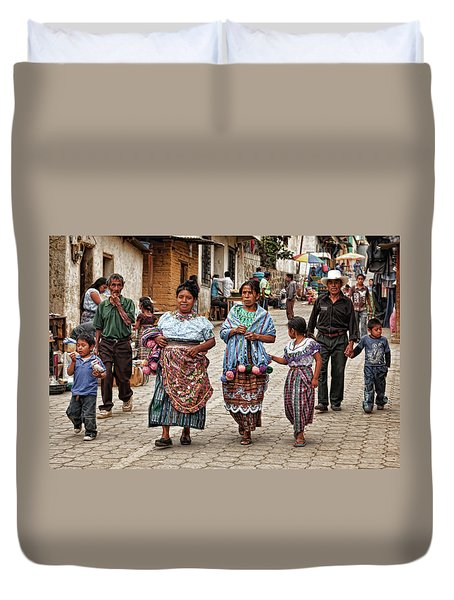 Sunday Morning In Guatemala Duvet Cover