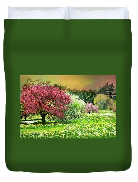 Duvet Cover featuring the photograph Sunday My Day by Diana Angstadt