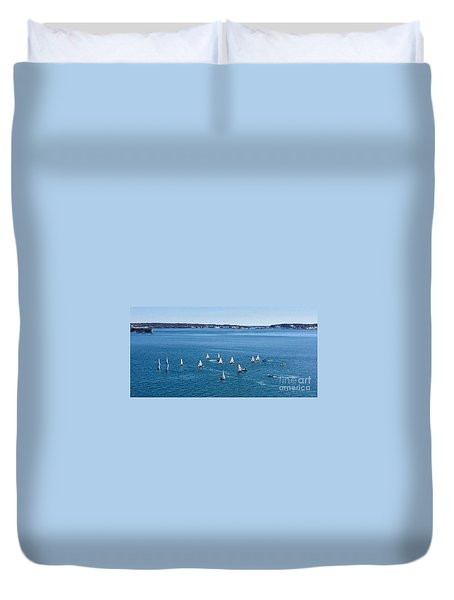 Sunday Sailing School On Casco Bay Duvet Cover