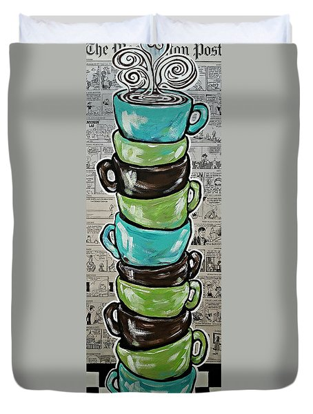 Sundays Cup A Joe Dark Roast Duvet Cover