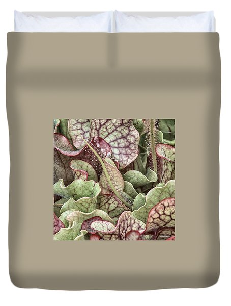 Sundew Tentacle With Layered Foliage Duvet Cover