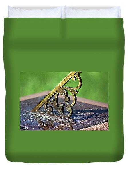 Sundial In The Garden Duvet Cover